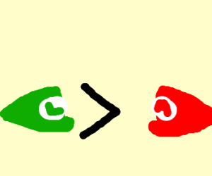 Luigi>Mario