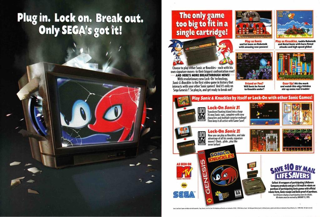 Sonic & Knuckles Advert