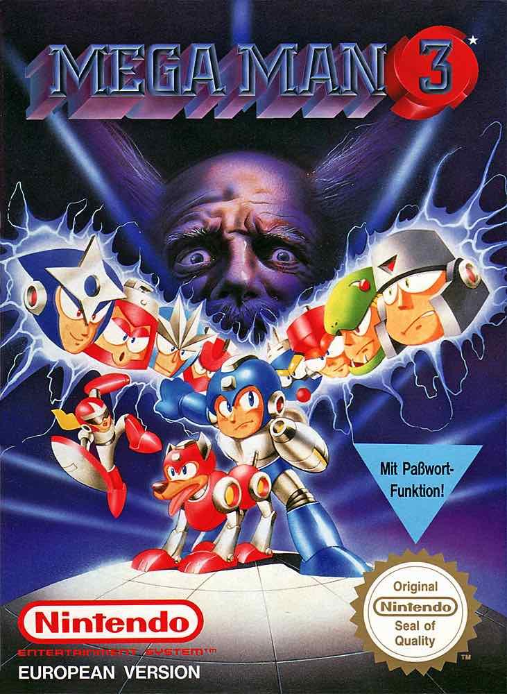 Mega Man 3 EU Cover