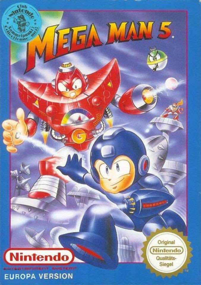 Mega Man 5 EU Cover