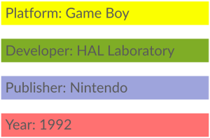 Kirby's Dream Land Info