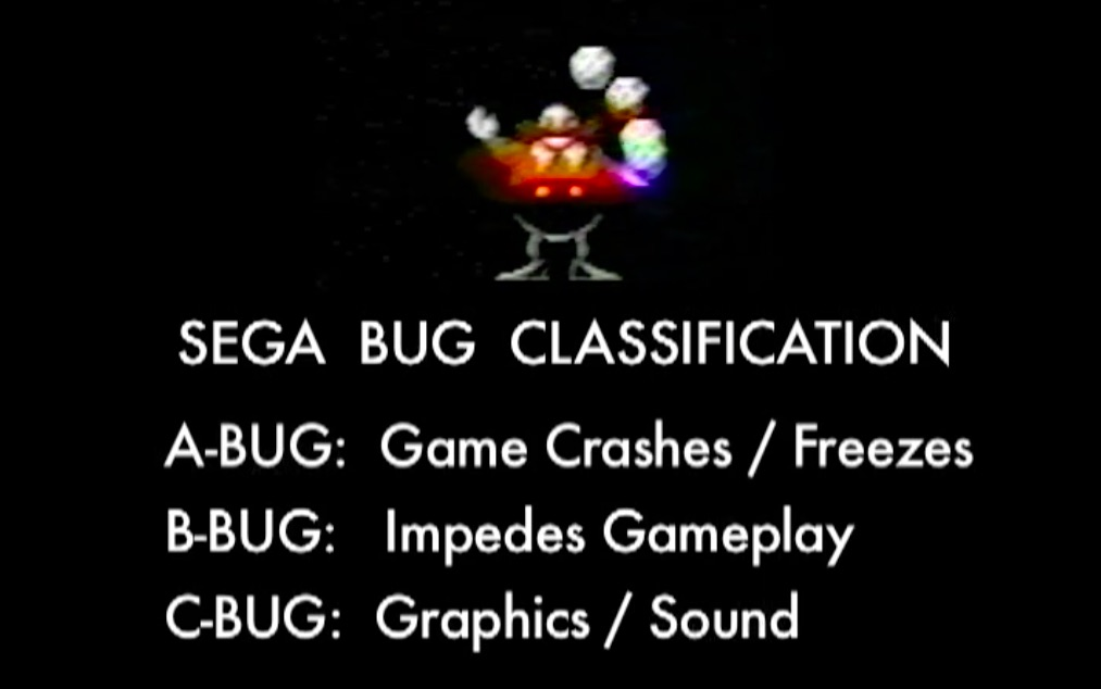 Sega Bug Classification