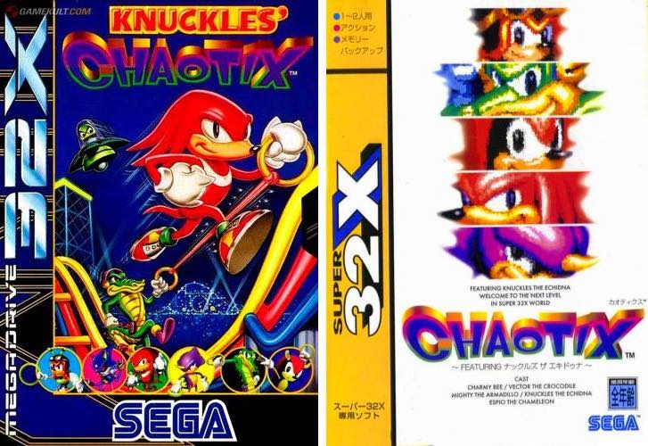 knuckles-chaotix-covers