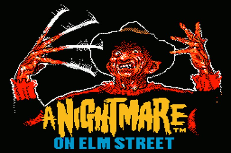 Opening screen from A Nightmare on Elm Street