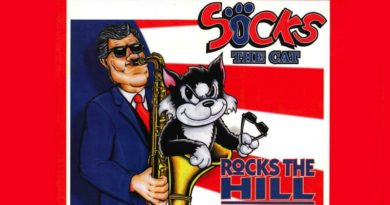 Socks the Cat Rocks the Hill Banner