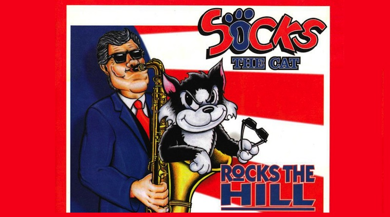 Socks the Cat Rocks the Hill Banner