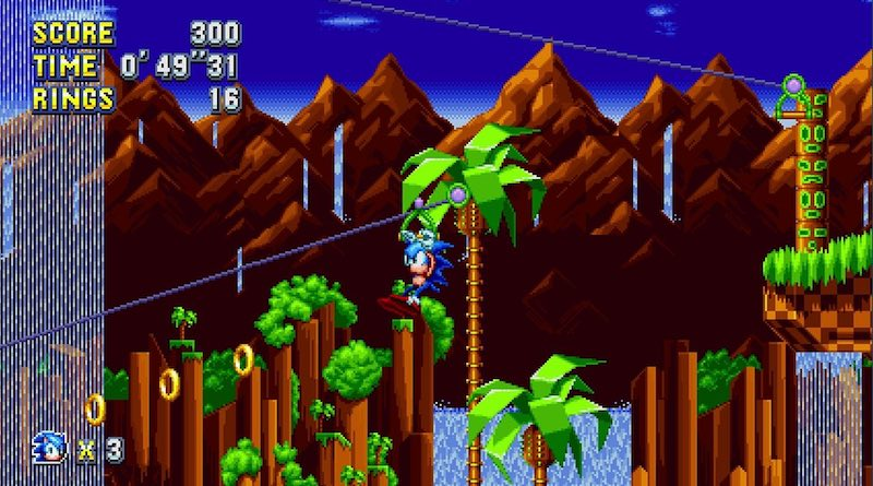 Sonic Mania Green Hill Zone Banner