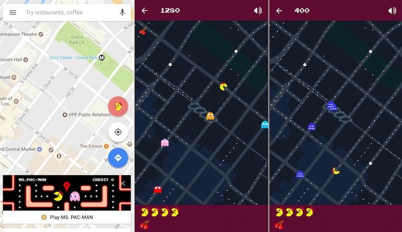 Google Maps Ms. Pac-Man